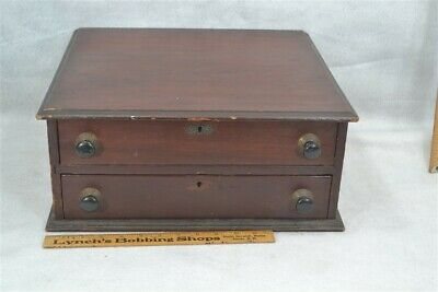 sewing thread box store drawers display walnut antique vintage original 1890