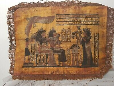 Rare Antique Ancient Egyptian papyrus queen Tiye & Princess Meritaten1398-1338BC