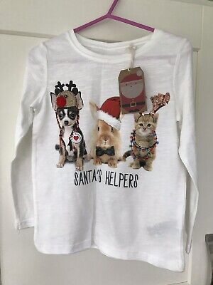 Cute NEXT Girls Christmas Top Age 3 Years BNWT