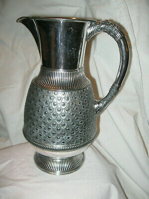 Antique Late 1800'S James W. Tufts Quadruple Plate Water Pitcher-Stunning Detail