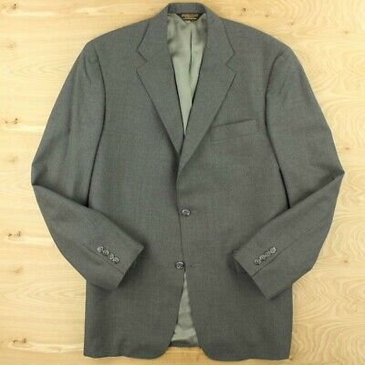 J. PRESS 3/2 roll mens jacket size 42 long tag gray vitale barberis ivy trad