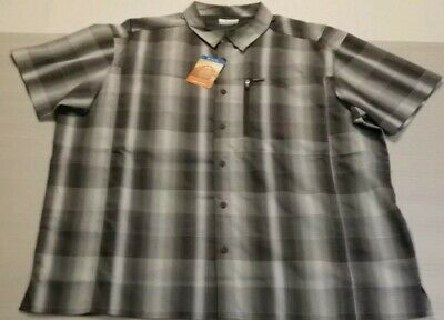 Columbia Kestrel Trail Long Sleeve Omni Shade UPF 50 Men/'s Shirt GREY All size