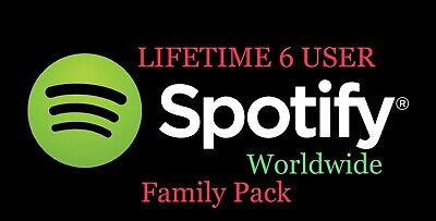 SPOTIFY PREMIUM   3 MONTH 6 USER   FaMILy Pack Worldwide