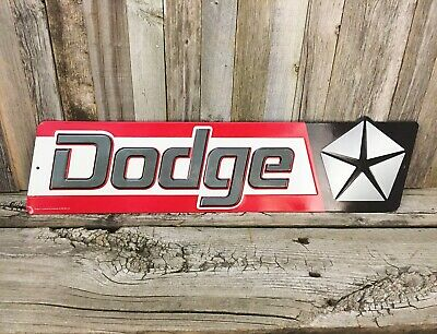 "Dodge Chrysler Dealer 1970's Mopar Metal Tin Sign Vintage Style Garage 19"" New"