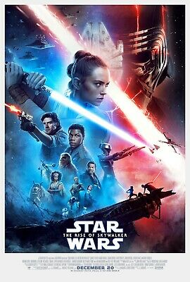 STAR WARS RISE OF SKYWALKER 2019 Original DS 2 Sided 27x40 US Movie Poster MINT