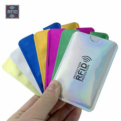 10pcs RFID Blocking Sleeve Credit Card Protector Bank Card Holder for Wallets