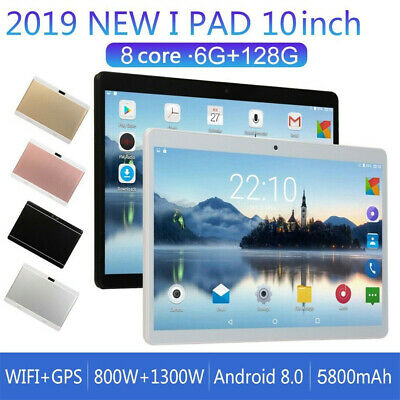 10'' Tablet PC Android 8.0 6+128GB 10 Core WIFI Dual SIM Camera GPS Bluetooth UK