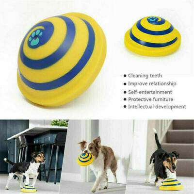 For Woof Glider Squeaky Dog Toy Sounding Disc Safe Fun Play All Dog Training UK^