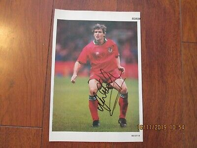 Mark Hughes Chelsea & Wales Autograph Poster