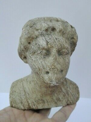 Ancient Roman Art Antiquities Marble Head of Man Antique Century Ad Circa Rare