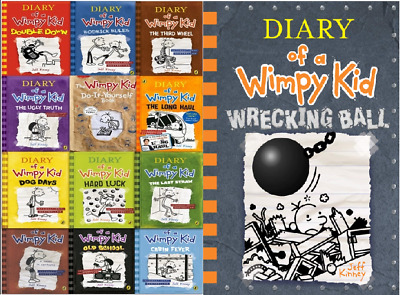 Diary Of A Wimpy Kid Collection +Wrecking ball by Jeff Kinney 📌 E'B0ok ONLY 📌