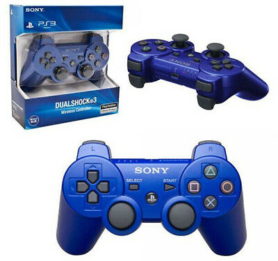 Original NEW PS3 Playstation 3 Wireless Dualshock 3 SIXAXIS   Controller BLUE