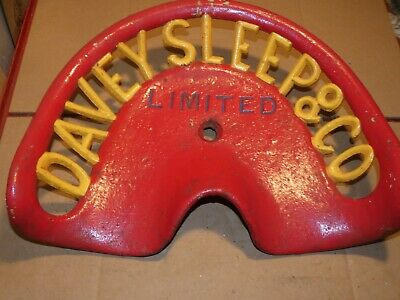 Davey Sleep & Co Ltd Vintage Cast Iron Tractor Implement Seat Xmas Present