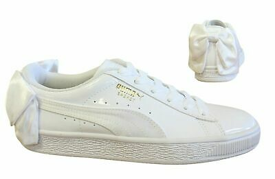 Puma Womens WN Suede Bow Patent.White Weiss Sneaker Low