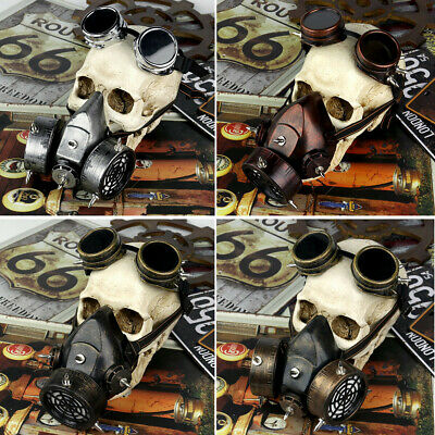 Steampunk Industrial Revolution Cosplay Vintage Gas Mask Custome Party.