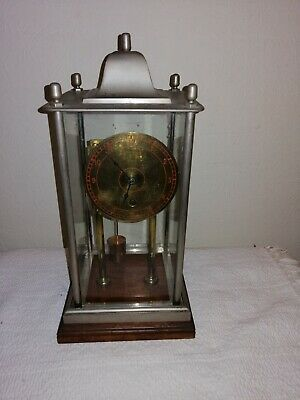 Unusual, Bespoke Mantle Clock in 4 Panel Glass Case, Great Condition & Working.