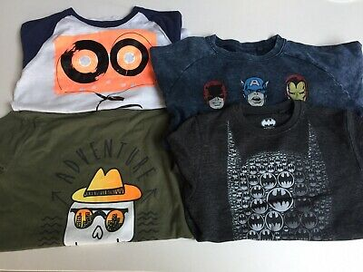 Next Sweatshirt x 2 Batman, Marvel. GAP T-shirt, J Crew Long Sleeve Top Age 12