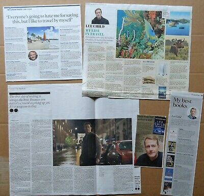 Lee Child - clippings/cuttings/articles pack