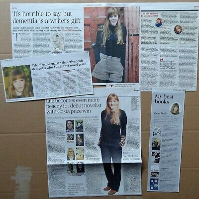 Emma Healey - clippings/cuttings/articles pack