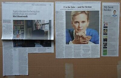 Siri Hustvedt - clippings/cuttings/articles pack
