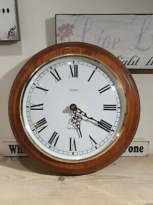 Large Antique Vintage Wooden linden Westminster Office/Kitchen Wall Clock.