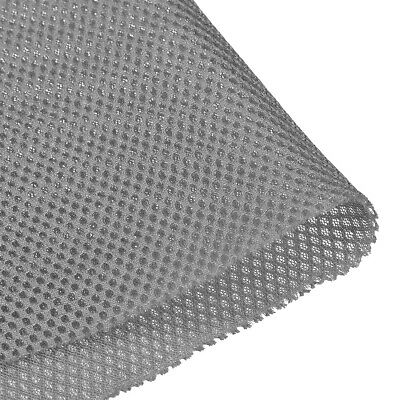 Speaker Grill Cloth 1x1.45M Polyester Fiber Stereo Mesh Fabric Gray