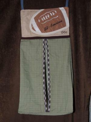 Cocalo Sports Fan Diaper Stacker Football Green Brown Sports