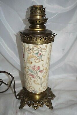 Antique W & W  Wild & Wessel Kosmos Brass Oil Lamp Converted to Electric Pottery