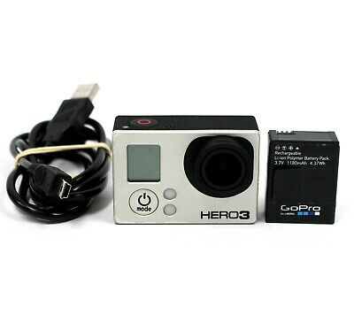 GoPro Hero 3 Black Edition Action Camera Camcorder w/ Battery & USB cable only