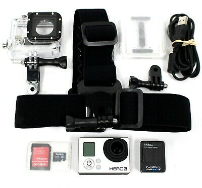 NICE GoPro Hero 3 Black Edition Action Camera Camcorder w/ Head Strap & More