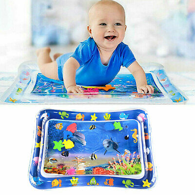 Inflatable Water Mat For Toddlers Baby Infant Mattress Splash Playmat Tummy Time