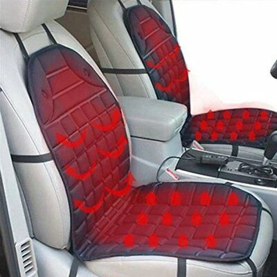 12V Car Van Heated Heating Front Seat Cushion Cover Pad Heater Warmer Winter 7Y