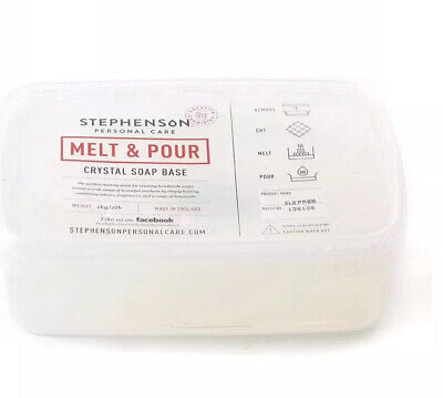 Stephenson Melt And Pour Crystal Soap Base Clear SLS FREE 1Kg