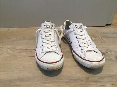 mens leather CONVERSE Size uk 9 great condition White All star