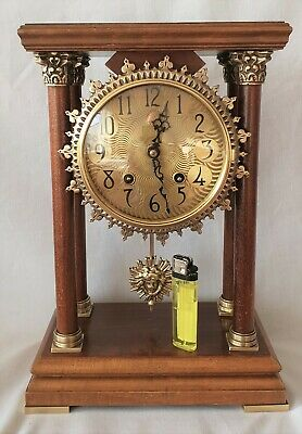 Warmink Clock Portico Pillar Dutch Vintage 8 Day Key Wind Spares Repairs