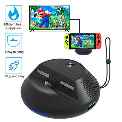 Portable TV Dock Converter HDMI Charger Base Station fr Nintendo Switch HOT