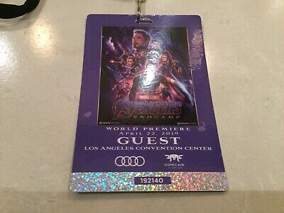 Marvel Studios Avengers End Game Los Angeles World Premiere Guest Ticket Pass