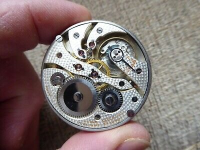 Quality Antique Gents  17 Jewels Pocket Watch Movement Working