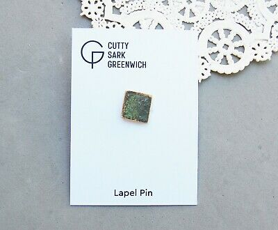 Lapel Pin Made from Old Copper Hull of Cutty Sark Clipper Ship Greenwich England