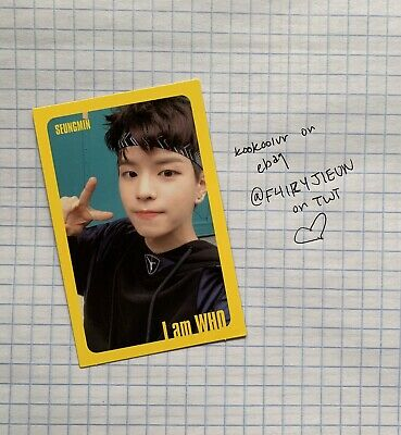 [Stray Kids]I am WHO Official QR Photocard / YELLOW / Selfie - SEUNGMIN
