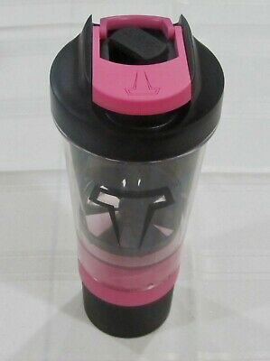 Titan Celestial Pink Vitamin Supplement Helix Blade Nutritional Mixer Bottle