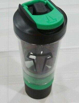 Titan Terra Lime Green Vitamin Supplement Helix Blade Nutritional Mixer Bottle