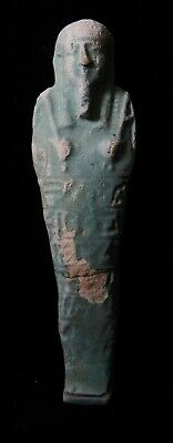 Zurqieh -As15666- Ancient Egypt . Huge Inscribed Faience Ushabti , 600 - 300 B.c