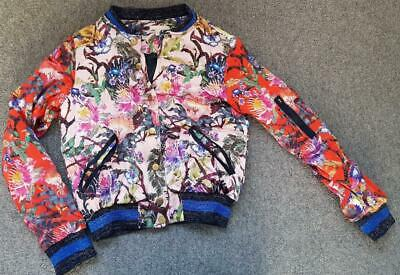 Beautiful Girls Multicolored, Silky, Floral Bomber Jacket 12-13 Years  H&M