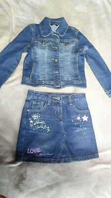 Girl's size 6-7 years Denim Jacket and Skirt from George Asda