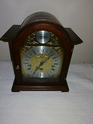 Franz Hermle, Tempus Fugit, Westminster Chimes Mantle Clock, Dated 2001. Working