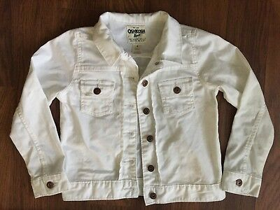 Osh Kosh B'gosh White Denim Jacket Age 8 Years yrs