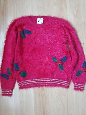 Girls Marks and Spencer Christmas jumper age 12-13 years bnwt