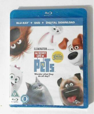 Brand New And Sealed ( The Secret Life Of Pets ) Childrens  Blu Ray + Dvd