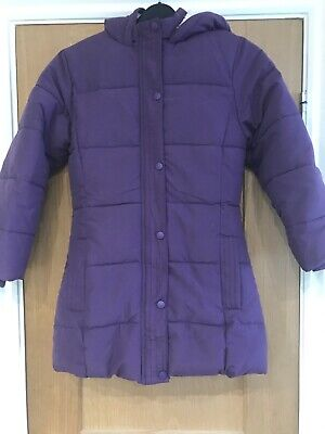 Girls John Lewis Lined Purple Winter Coat Age 9 Years